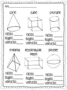 SOLID SHAPES {A COMMON CORE GEOMETRY UNIT}.. would redo this in Spanish to tie subjects together