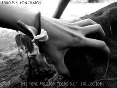 """One Million Years B.C."" Collection Prehistoric jewellery  By Pericles Kondylatos There was a time on earth when dinosaurs and people where living together. People were afraid for their lives, hiding in caves; wearing bones… no one was safe! This time is back…"