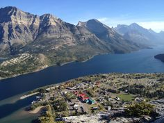 View from the summit of Bears Hump, Waterton, AB