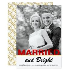 #Trendy newlywed Christmas flat photo card - #Xmas #ChristmasEve Christmas Eve #Christmas #merry #xmas #family #kids #gifts #holidays #Santa