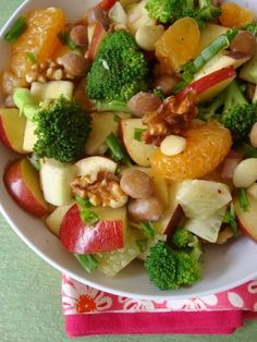 High Raw Food ~ Apple Broccoli Cucumber Salad - Liver Cleansing Diet - Learn how to do a liver flush www.youtube.com/... I LIVER YOU