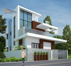 Home plan / House plan Designers online in Bangalore 3 Storey House Design, Bungalow House Design, House Front Design, Design Your Dream House, Small House Design, Cool House Designs, Door Design, Home Building Design, House Building