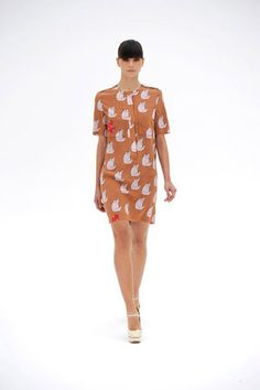 victoria beckham's spring 2012 cat print dress. i love, but fear my hubby would hate. mwreh...