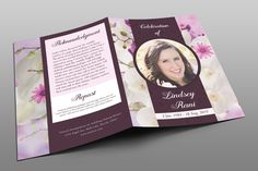 Orchid Funeral Program by Royallove on @creativemarket