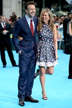 Jason Sudeikis and Jennifer Aniston hit the London premiere of We're the Millers
