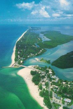 Blind Pass at Sanibel/Captiva from the air