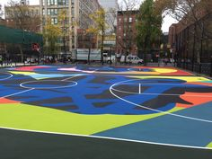 Image result for painted basketball court