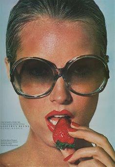 9f30dba49b9b geoffrey beene sunglasses ad-vogue june Beene was distributed by Viva  Eyewear and now distributed by Tura. 1970s SunglassesBig SunglassesVintage  ...