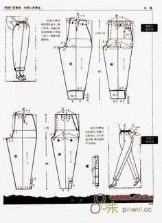 cin pants dress patterns making) - modelist kitapları Easy Sewing Patterns, Dress Patterns, Clothing Patterns, Altering Pants, Altering Clothes, Sewing Pants, Sewing Clothes, Beautiful Casual Dresses, Cute Sewing Projects