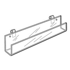 Gridwall Acrylic J-Rack Shelf With Open Ends - 11-3/4