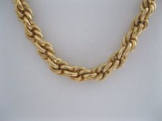 Napier Goldtone Necklace Twisted Rope by GotMilkGlassAndMore, $10.88