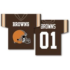 Cleveland Browns NFL Jersey Design 2-Sided 34 x 30 Banner