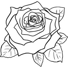 vintage flowers rose by @maxim2, A line drawing of a vintage rose.