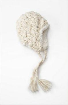 J. Jill cozy hand-knit trapper hat