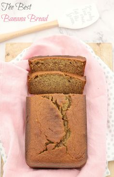 A delicious one-bowl banana bread that is so quick and easy to prepare! Made completely from pantry and refrigerator staples! #banana   #bread   #easy   #recipe  #baking #healthy #conventional #thermomix #school #snacks #breakfast