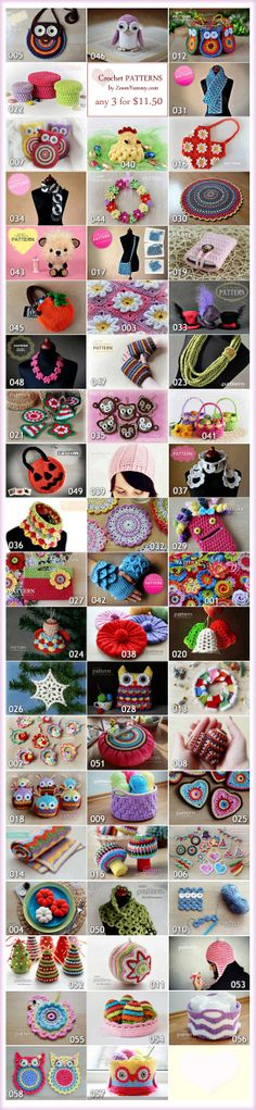 Crochet Patterns - Pick Any 3 Crochet Patterns Bundle