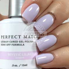 LeChat Mystic Lilac - swatch by Chickettes.com