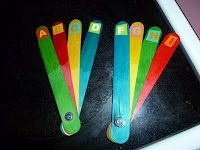 Multi Colored Choice Fan--colored sticks to show answers to multiple choice questions.
