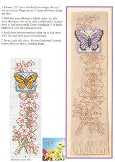 Cross Stitch World: Butterfly Bookmark