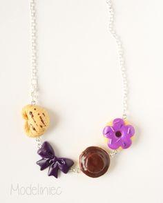 Naszyjnik ze słodkościami z modeliny/ Polymer clay necklace  #polymerclay #sweets #necklace
