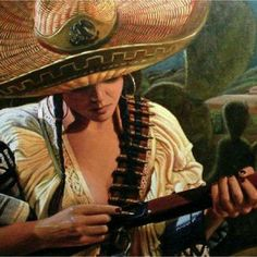 art mexicano Chicana_Jalisciense More - art Mexican Artwork, Mexican Paintings, Mexican Folk Art, Mexican American, Native American, Jesus Helguera, Arte Latina, Latino Art, Mexican Revolution