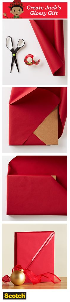 Try this Japanese-style gift wrapping technique to create minimal visible folds and maximum visible Scotch Transparent Tape shine.