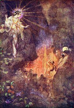 AMATERASU sortant de la grotte grâce à la danse de la déesse UZUME