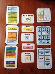 Produkt - kalendář Weather For Kids, Activity Board, Pre School, Preschool Activities, Kids And Parenting, Montessori, Kindergarten, Crafts For Kids, Classroom