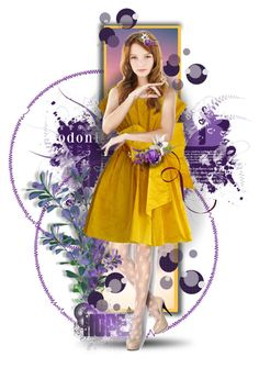 """Purple & Yellow"" by suzanne228 ❤ liked on Polyvore featuring art"