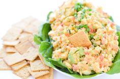 Healthy Veggie-packed Egg Salad Healthy Egg Salad, Cheese Omelette, Breakfast Salad, Feta, Potato Salad, Salads, Veggies, Cooking Recipes, Tasty