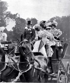 """Coaching - """"Four in Hand"""" - Defined as guiding four horses by the driver, that driver was called the 'whip'. An American Gilded Age sport and pastime, that was enjoyed by the wealthy members of society. Antique Photos, Vintage Photographs, Vintage Images, Vintage Cars, Victorian Photos, Vintage Pictures, Old Pictures, Old Photos, Four Horses"""