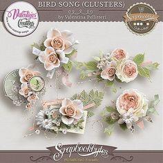 Bird Song {Clusters} :: Embellishments :: SCRAPBOOK-BYTES
