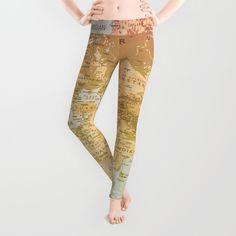 Pastel World Leggings by Sandy Broenimann - Medium Yoga Leggings, Virtual Closet, Polyester Spandex, Your Style, Personal Style, Tights, Pastel, Comfy, World