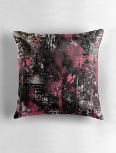 Excited to share this item from my shop: Pink Graffiti Accent Pillow Luxury Home Decor, Luxury Homes, Artwork Prints, Home Accents, Accent Pillows, Modern Decor, Decorative Throw Pillows, Accent Decor, Graffiti