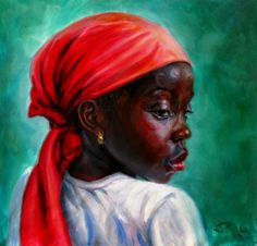 Girl in Red Turban -  Jonathan Guy Gladding