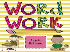 A zillion word work ideas! LOVE this resource