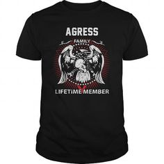 Cool  AGRESS FAMILY LIFETIME MEMBER Shirts & Tees #tee #tshirt #named tshirt #hobbie tshirts #agress