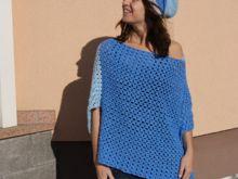 Poncho Blue Dream, Universalgröße