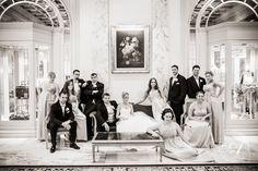 fairmont-copley-plaza-hotel-wedding-bridal party vanity fair portrait in the lobby Wedding Photography Poses, Wedding Poses, Photography Tips, Portrait Photography, Party Photography, Wedding Ideas, Wedding Shoot, Vogue Wedding, Chic Wedding