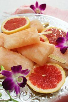 homemade fresh pink grapefruit popsicles