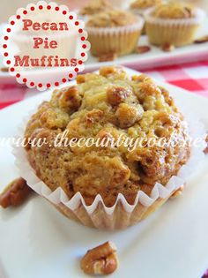"Southern Pecan Pie Muffins - ""You *MUST* make these!! As soon as possible!! You won't regret it!"" thecountrycook.net"