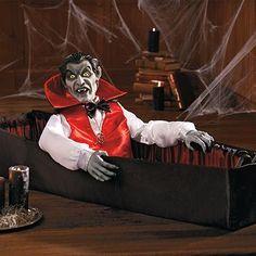 Animated Rising Vampire in Coffin