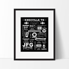 black and white knoxville prints - Google Search
