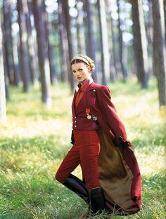 Kate Moss. Vintage menswear inspired.