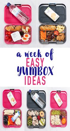 A week of no sandwich lunchboxes for kids (or grown ups!) packed in our favourite YumBoxes. These YumBoxes are perfect for ensuring you have variety in your packed meals.
