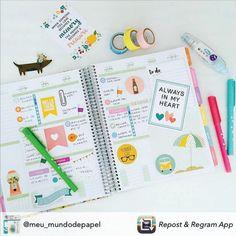 Decorar o Daily Planner é um momento relaxante...uma delícia! Compre online • receba em casa www.paperview.com.br #meudailyplanner #dailyplanner #decorate #plannercommunity