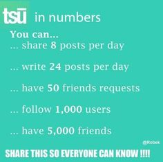 Tsū in numbers #tsu  Www.tsu.co/suziieterrazas