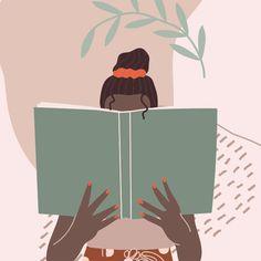 Affirmations, Pull Card Illustrations, Black Women, Positivity, Reading, Modern Brand Story, Affirmations, Black Women, Branding Design, Positivity, Graphic Design, Illustrations, Reading, Creative