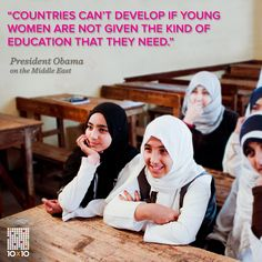 Girls + Education = Good Foreign Policy! It's #BasicMath.