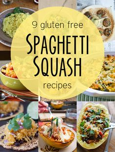 "9 Gluten Free ""Pasta"" Recipes Using Spaghetti Squash (And thanks for including my Spaghetti squash and Chard Gratin!)  from Nosh On It"